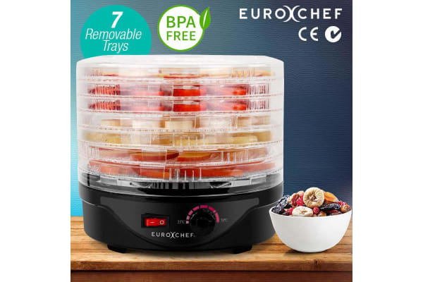 Black 7 Trays Electric Food Dehydrator