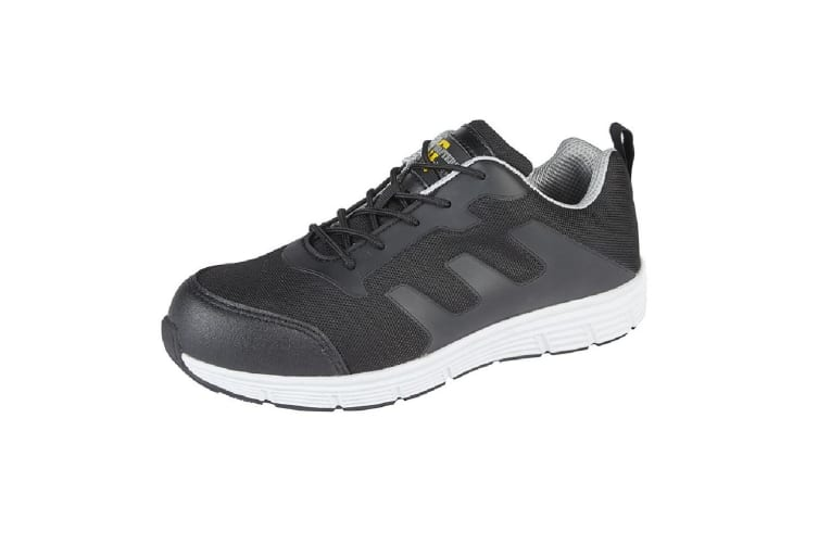 Grafters Mens Steel Toe Safety Trainers (Black/Grey) (5 UK)