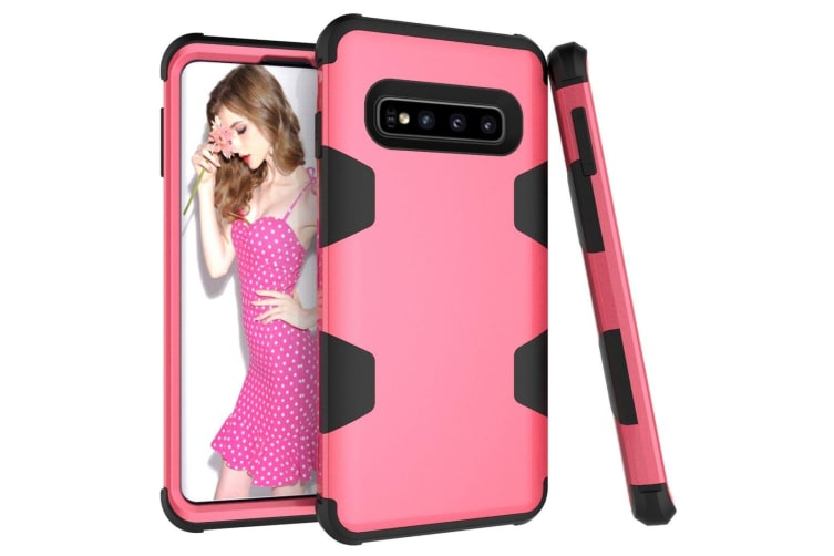 For Samsung Galaxy S10 Plus Case  Rose Red Armour TPU & PC Shockproof Back Cover