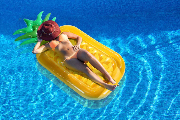 Inflatable Pool Float - Pineapple 190cm