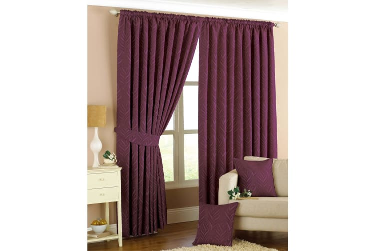 Riva Home Willow Pencil Pleat Curtains (Plum) (66x90 (168x229cm))