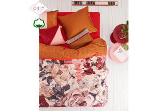 Cotton Sateen Quilt Cover Set Mellow Rose Red by Oilily
