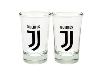 Juventus FC Shot Glass Set (Pack Of 2) (Clear)