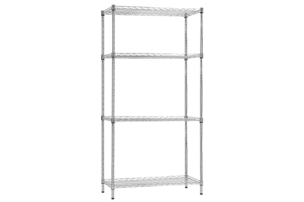 Wire Rack Storage Units | Dick Smith Syncrosteel Chrome Wire Shelving Storage Unit