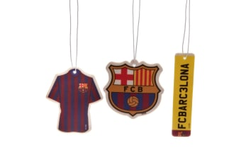FC Barcelona Air Fresheners (Pack Of 3) (Multicoloured) (One Size)