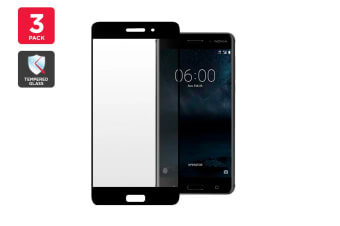3 Pack Premium Tempered Glass Screen Protector for Nokia 6