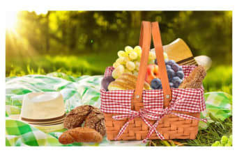Deluxe Picnic Basket Baskets Set Outdoor Blanket Park Trip