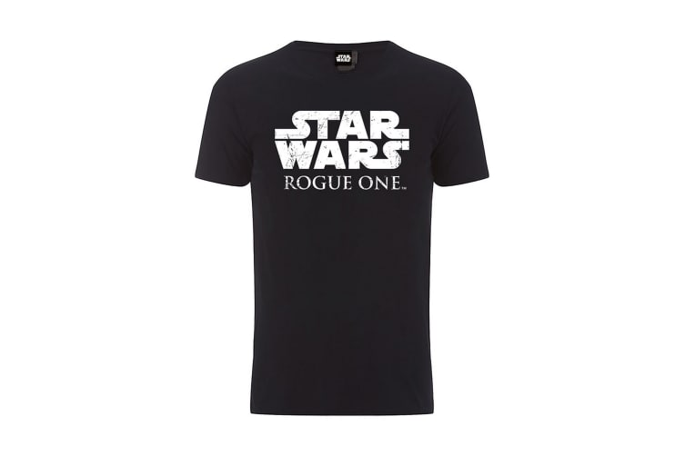 Star Wars Rogue One Official Big Chest Logo Black T-Shirt (Black) (XXL)