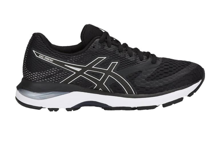 ASICS Women's GEL-Pulse 10 Running Shoe (Black/Silver, Size 9)