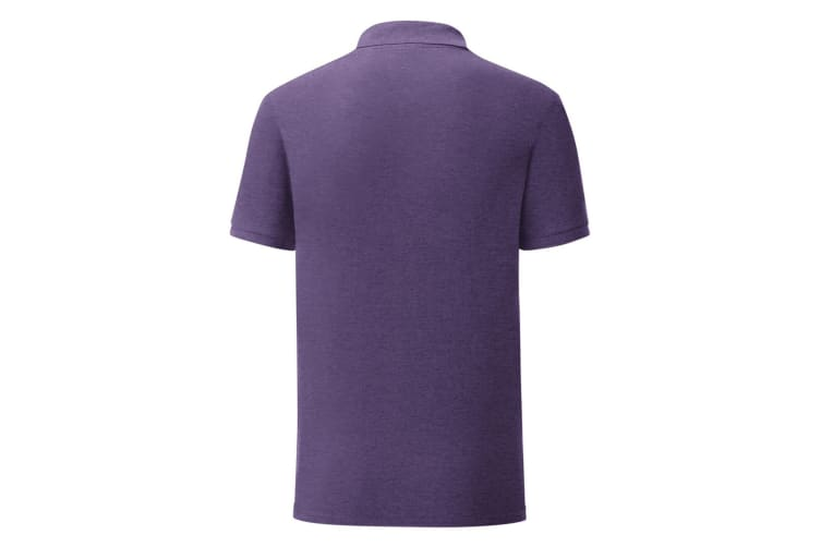 Fruit Of The Loom Mens Iconic Pique Polo Shirt (Heather Purple) (M)