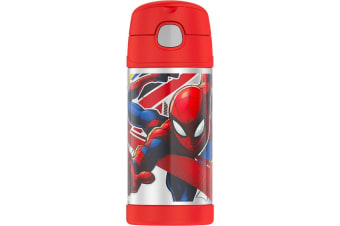 Thermos Funtainer Stainless Steel 355ml Drink Bottle - Spiderman