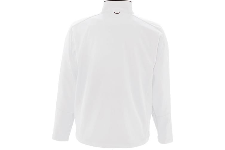 SOLS Mens Relax Soft Shell Jacket (Breathable  Windproof And Water Resistant) (White) (XL)