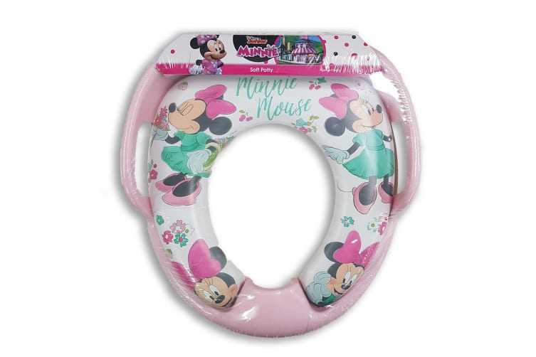 Disney Minnie Mouse Floral Padded Potty Seat Toilet Training Toddler/Kids 2y+ Pi