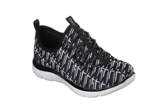 Skechers Childrens Girls Skech Appeal 2.0 Insights II Elasticated Trainers (Black/White) (12.5 UK Junior)