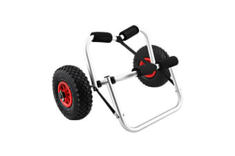 Kayak Trolley Canoe Aluminium Collapsible Wheel Cart Boat Carrier Ski