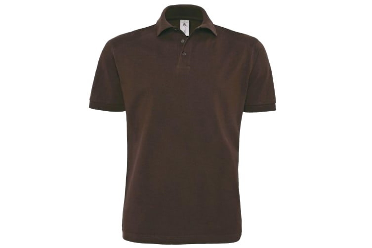 B&C Mens Heavymill Short Sleeve Cotton Polo Shirt (Brown) (M)