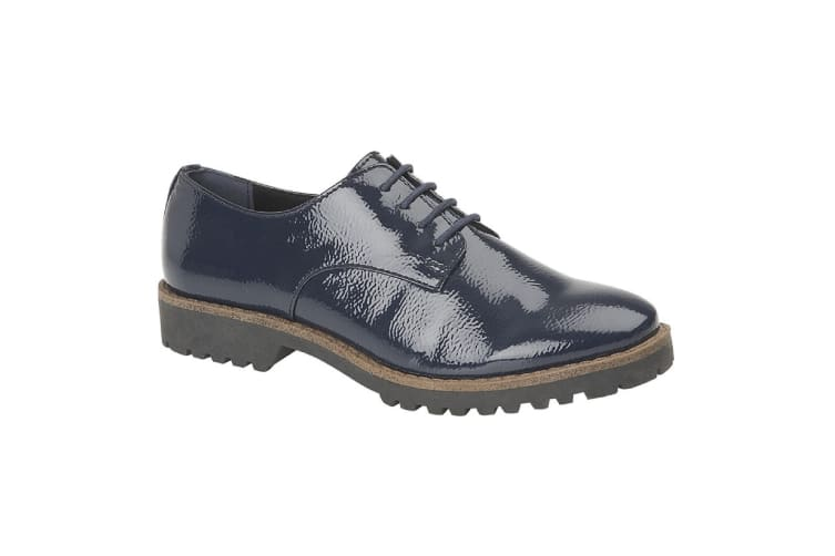 Cipriata Womens/Ladies Maria Oxford Shoes (Blue Patent) (8 UK)