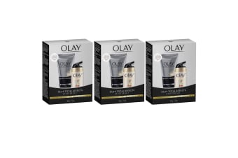 3x Olay Total Effects 7 In 1 Foaming Cleanser 50g + Day Cream Normal SPF 15 12g