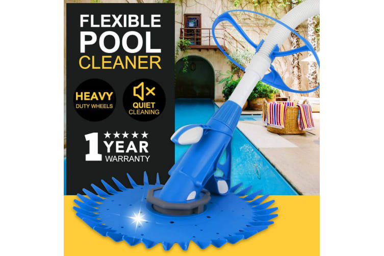 SAN HIMA NEW Swimming Pool Cleaner Floor Climb Wall Automatic Vacuum 10M Hose Blue