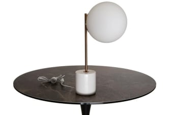 Eris Table Lamp | Gold & White