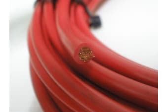 8 B&S CABLE DUAL BATTERY SYSTEM 12V x 13 METRES RED COVER 8BS BS B S NEW