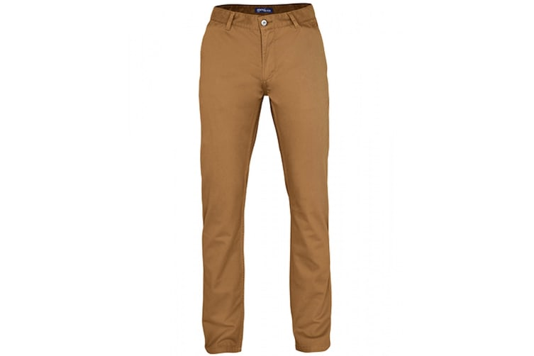 Asquith & Fox Mens Classic Casual Chinos/Trousers (Camel) (2XLT)