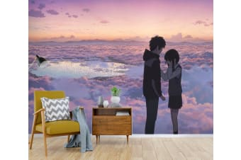 3D Your Name 074 Anime Wall Murals Woven paper (need glue), XXXXL 520cm x 290cm (WxH)(205''x114'')