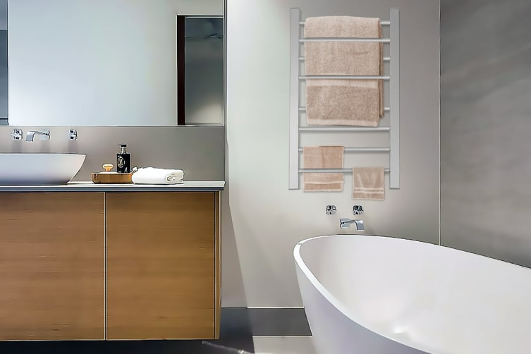 Lenoxx Wall Mounted Heated Towel Rail