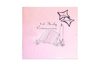 NPK First Holy Communion Printed Foil Napkins (Pack Of 15) (Pink)