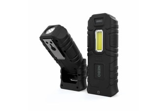 NEBO ARMOUR 3 WATERPROOF 360 LUMEN POWER BANK LED FLASHLIGHT WORK SPOT LIGHT 89536