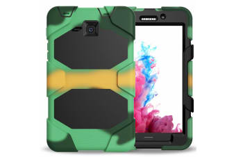 For Samsung Galaxy Tab A A6 10.1'' T580/T585 Shockproof Hybrid Tablet Case Cover--Camouflage