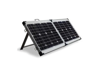G&P 12V 120W Folding Portable Mono Solar Panel Kit Caravan Camping Power USB