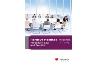 Horsley's Meetings - Procedure, Law and Practice