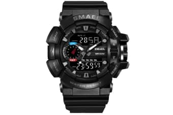 Mens Sport Quartz Digital Watch Blackgray