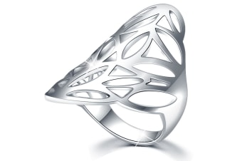.925 Egyptian Leaf Ring-Silver   Size US 8