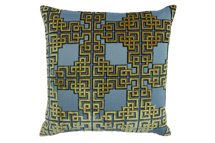 Paoletti Zeus Cushion Cover (Blue) (One Size)