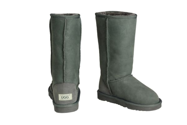 OZWEAR Connection Classic Long Ugg Boots (Charcoal, Size 6M/7W US)