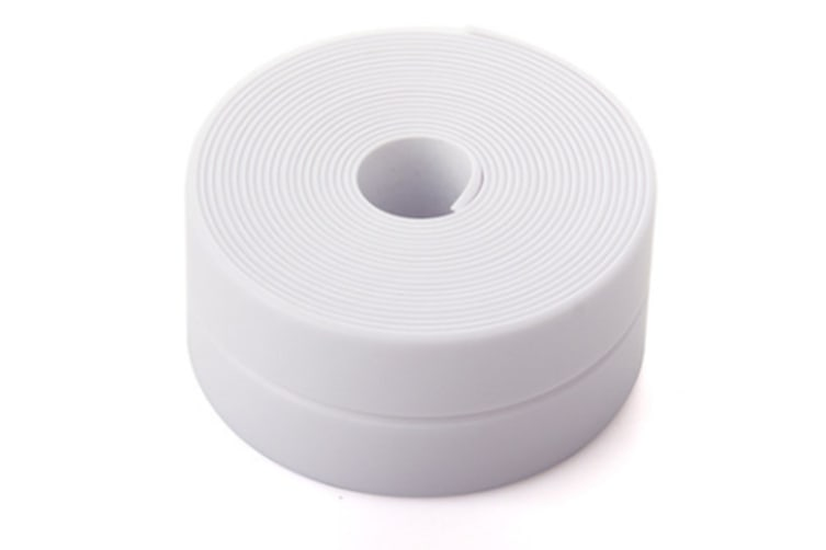 38mm Kitchen Bathroom Self Adhesive Wall Seal Ring Tape Waterproof Mold Proof Edge Trim Tape Accessory-WHITE