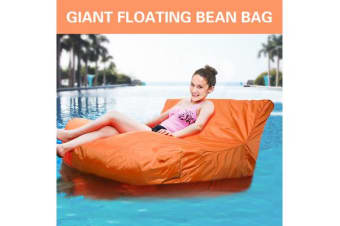 GIANT POOL BEAN BAG Floating Sofa Chair Lounge Waterproof Orange