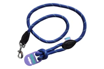 Dog & Co Mountain Reflective Rope Dog Walking Trigger Lead (Blue) (One Size)