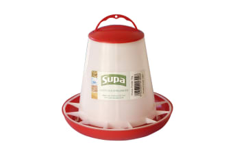 Supa Poultry Feeder (White/Red)
