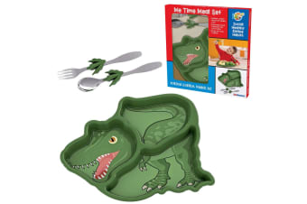 Kids Funwares Me Time Meal Spoon Plate Fork Dinosaur Children Kids Dinner Set