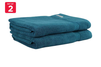 Onkaparinga Ethan 600GSM Bath Sheet Set of 2 (Jade)
