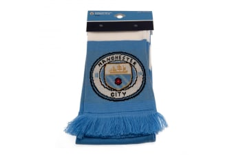 Manchester City FC Bar Scarf (Blue/White) (One Size)