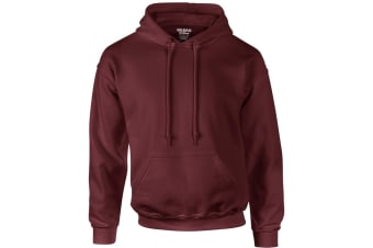 Gildan Heavyweight DryBlend Adult Unisex Hooded Sweatshirt Top / Hoodie (13 Colours) (Maroon) (2XL)