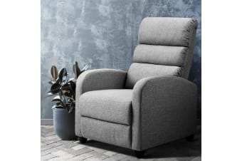 Artiss Recliner Chair Luxury Lounge Chairs Armchair Sofa Fabric