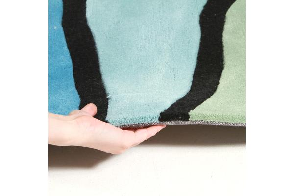 Rock Star Blue And Green Rug 225x155cm