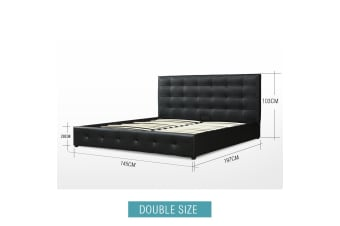 Classic PU Leather Bed Frame - Double