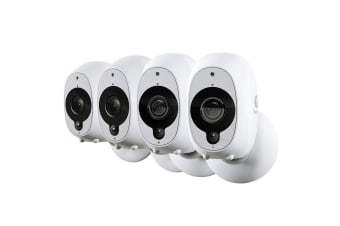 4x Swann Smart Wi-fi CCTV Security 1080P Full HD Wireless Rechargeable Cameras