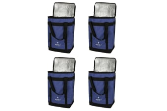 4PK Karlstert Sort & Carry Insulated Picnic Lunch Cooler Shopping Storage Bag BL